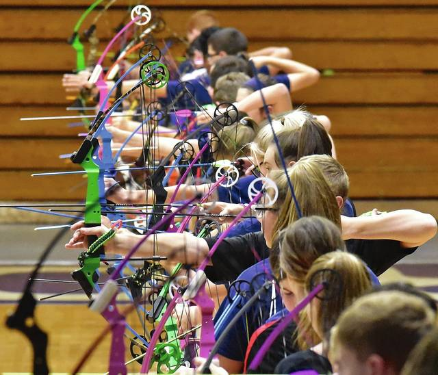 27dbcb1b65c6 Archers take aim during the Mason County Fall Shoot, Saturday, in  Maysville. - Terry Prather, The Ledger Independent