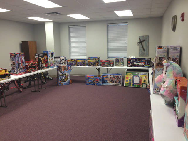 One of the toy-filled rooms in the church that families can choose from. Jonathan Wright. The Ledger Independent