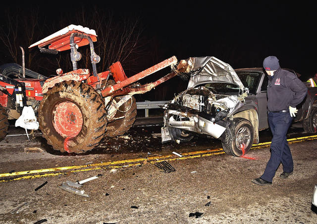 No one hurt as tractor, truck collide | Ledger Independent