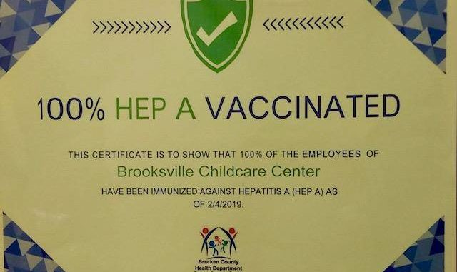 Health Departments Offering Hep A Vaccinated Certificates Ledger
