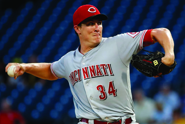 32b1544409d937 5, 2018, file photo, Cincinnati Reds starting pitcher Homer Bailey delivers  in the first inning of the team's baseball game against the Pittsburgh  Pirates ...