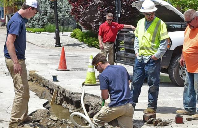 Water line break leaves city 'high and dry'