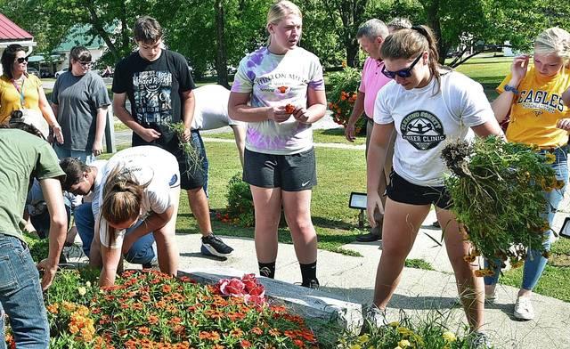 BCHS serving through landscaping efforts