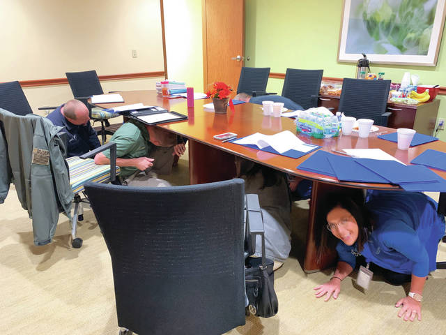 Hospice of Hope holds mock earthquake drill
