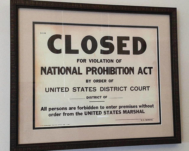 Sobering Thought: Prohibition is no reason to celebrate