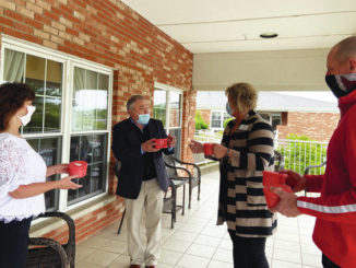 Community thanks nursing home employees