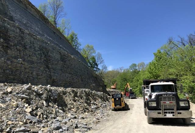Work is nearing completion on Kentucky 3056 in Maysville.