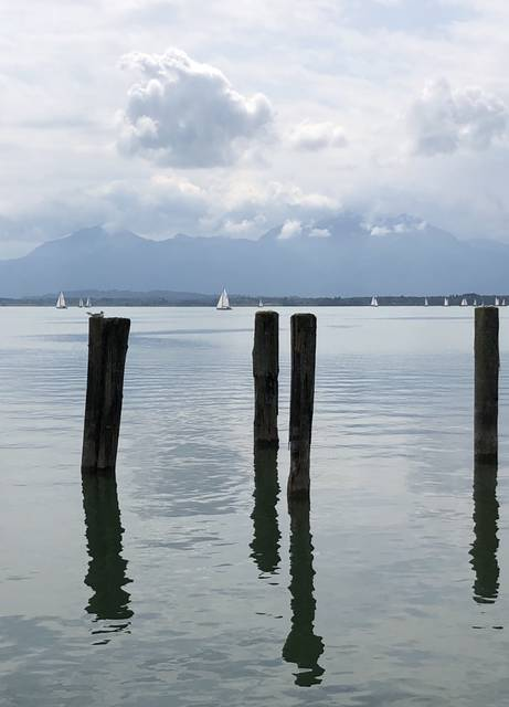<p>Sailing on Chiemsee is a popular activity.</p>