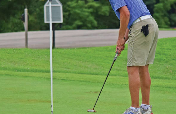 Mason County's Mason Butler led the Royals with an even-par 72 on Friday at the Rowan County Invitational at Eagle Trace Golf Course. Butler helped the Royals finish tied for first as a team, Butler finishing fifth overall. (Brad Laux, 1016 Sports)