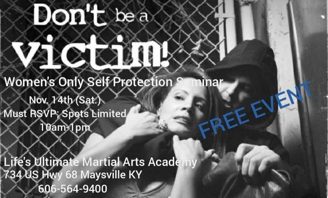 Women's self-defense seminar Nov. 14