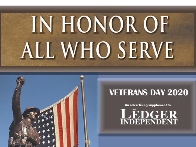 2020 Veterans Day, Ledger Independent