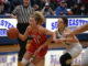 Peebles' Jacey Justice looks to penetrate the lane. (Evan Dennison, The Ledger Independent)