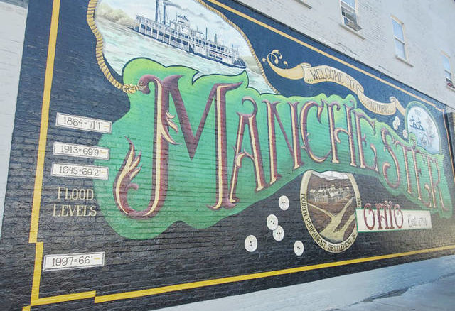 Another masterpiece beautifully marks the architecture of Adams County as veteran mural artist Pamela Kellough, of Ross County, Ohio, chas ompleted the mural in Manchester, Ohio.
