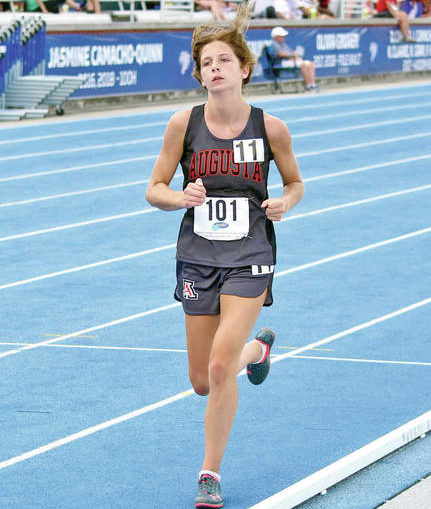 Augusta's Curtis medals at state meet