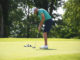 Corey Richmond putts on No. 11 during the Chippeways Match Play Championship match against Jackson Frame. (Evan Dennison, The Ledger Independent)
