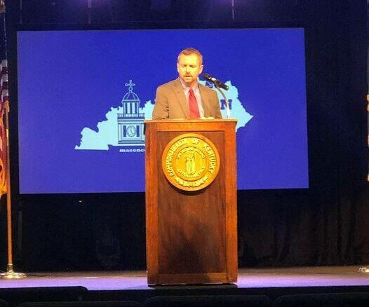 Mason County Judge-Executive Owen McNeill, pictured, and Maysville Mayor Debra Cotterill presented their State of the Community messages on Thursday. Watch for more in Saturday's edition of The Ledger Independent.
