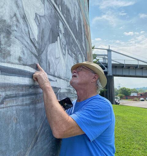 Clooney mural repairs underway